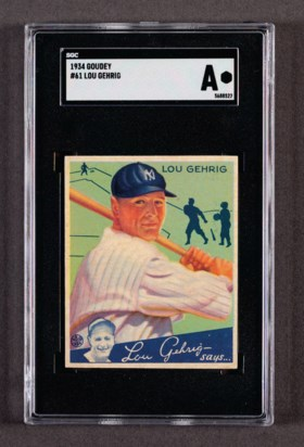 1934 Goudey #61 Lou Gehrig (SGC Authentic)