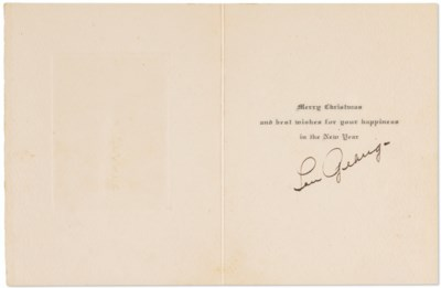 Lou Gehrig Autographed Christm