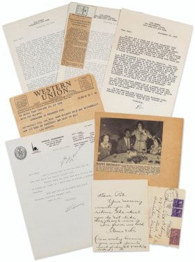 Highly Important Lou Gehrig Document Archive From Dr Paul O'
