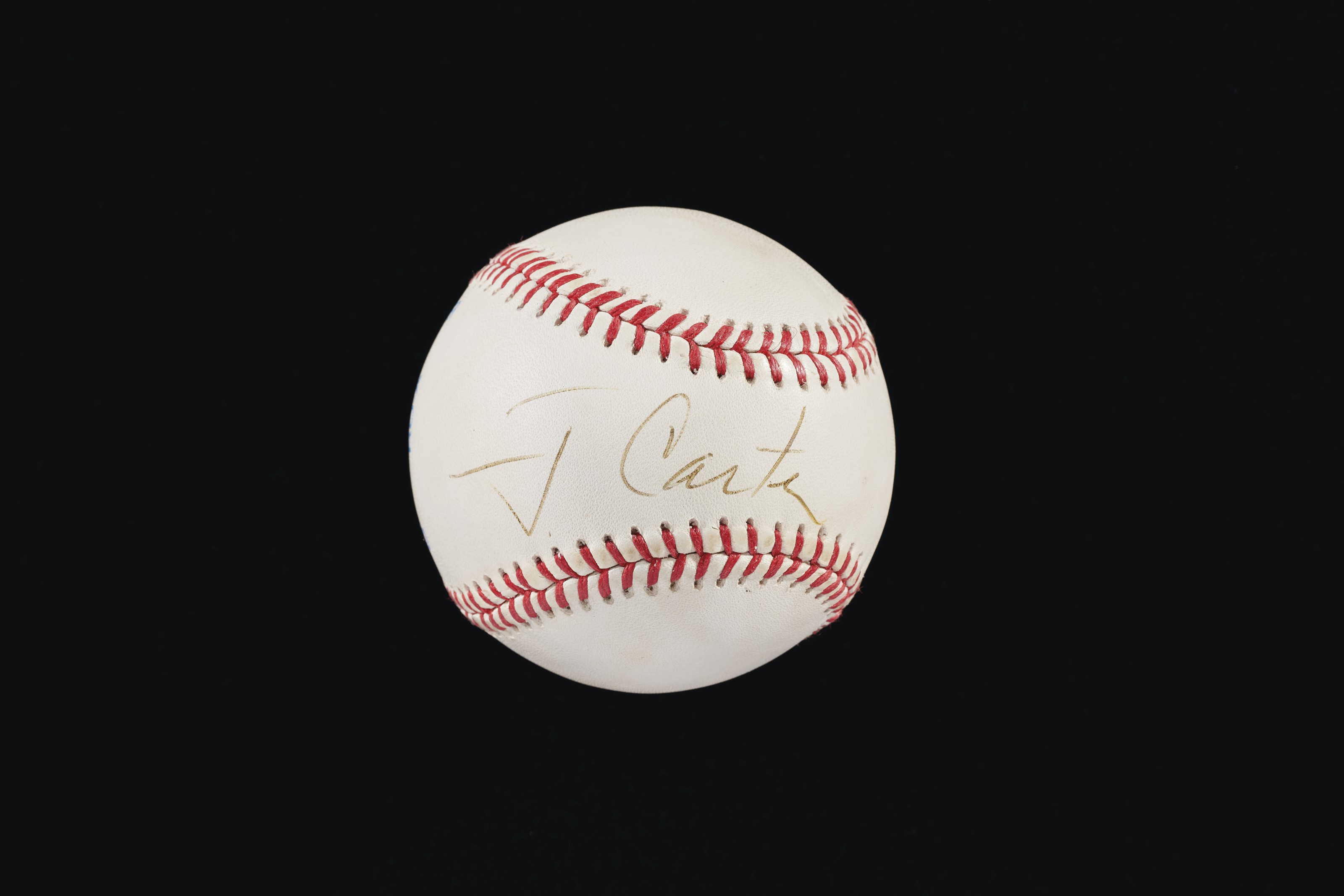 President Jimmy Carter Single Signed Baseball (US President 1977-81)