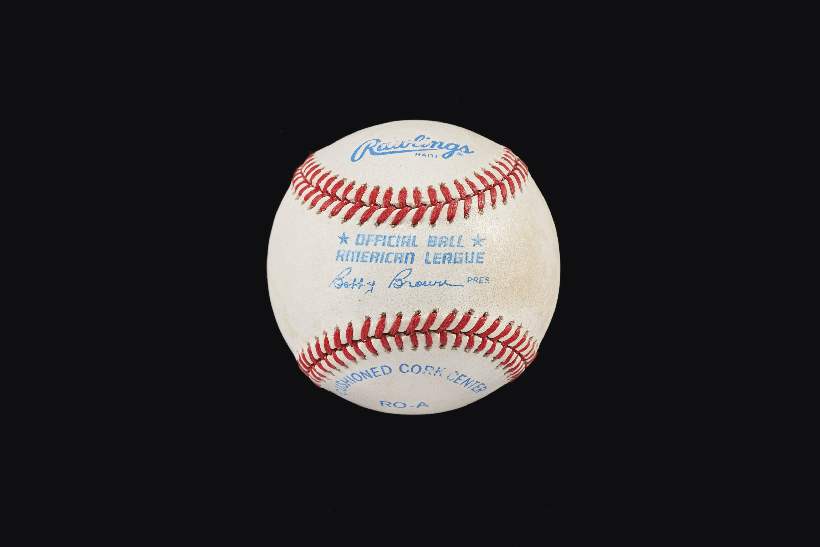 President Ronald Reagan Single Signed Baseball (US President 1981-89)