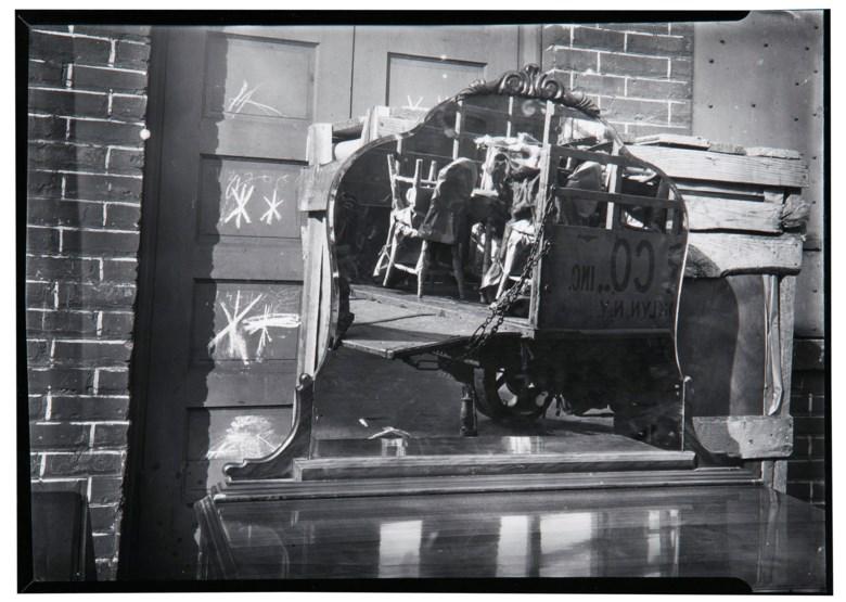 Walker Evans (1903-1975), Moving Truck and Bureau Mirror, Brooklyn, 1929. Sheet 5⅞ x 10 in (14.9 x 25.5 cm). Estimate $5,000-7,000. Offered in  Walker Evans An American Master, 21-29 April 2020, Online