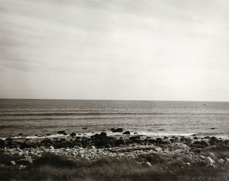 Andy Warhol (1928-1987), Montauk Beach, 1982. Unique gelatin silver print. 8 x 10 in (20.3 x 25.4 cm). Estimate $2,500-3,500. Offered in Andy Warhol Better Days, 28 April to 6 May 2020, Online. Artwork © 2020 The Andy Warhol Foundation for the Visual Arts, Inc.