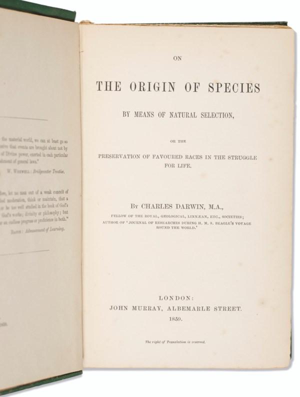 First Edition Origin of Species