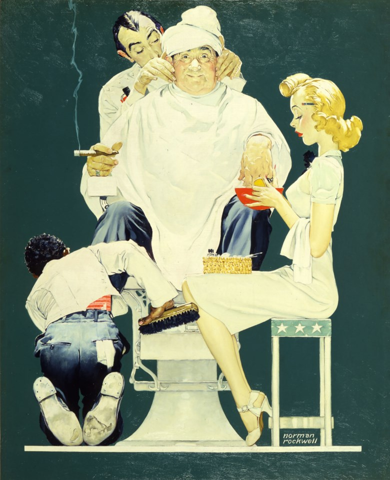 Norman Rockwell (1894-1978), Full Treatment, 1940. Oil on canvas. 43¼ x 35 in. Available for immediate purchase. Offered in Art of the Cover in Private Sales at Christie's