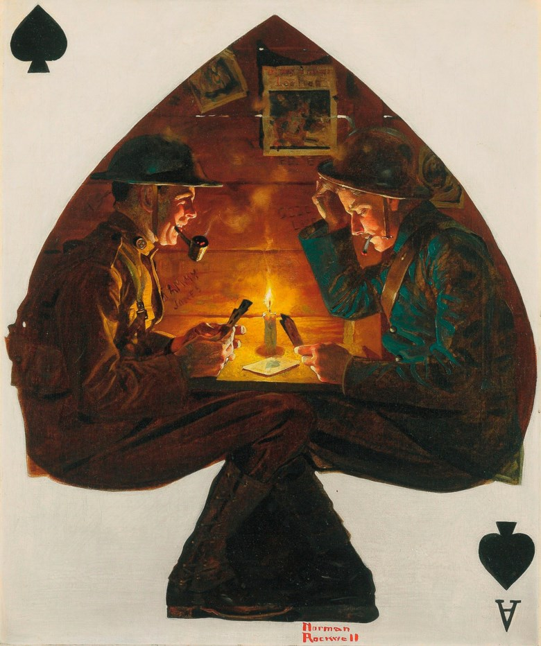 Norman Rockwell (1894-1978), A Trench Spade (Soldiers Playing Cards), 1918. Available for immediate purchase. Offered inArt of the Cover, 19 May-19 June 2020, Online