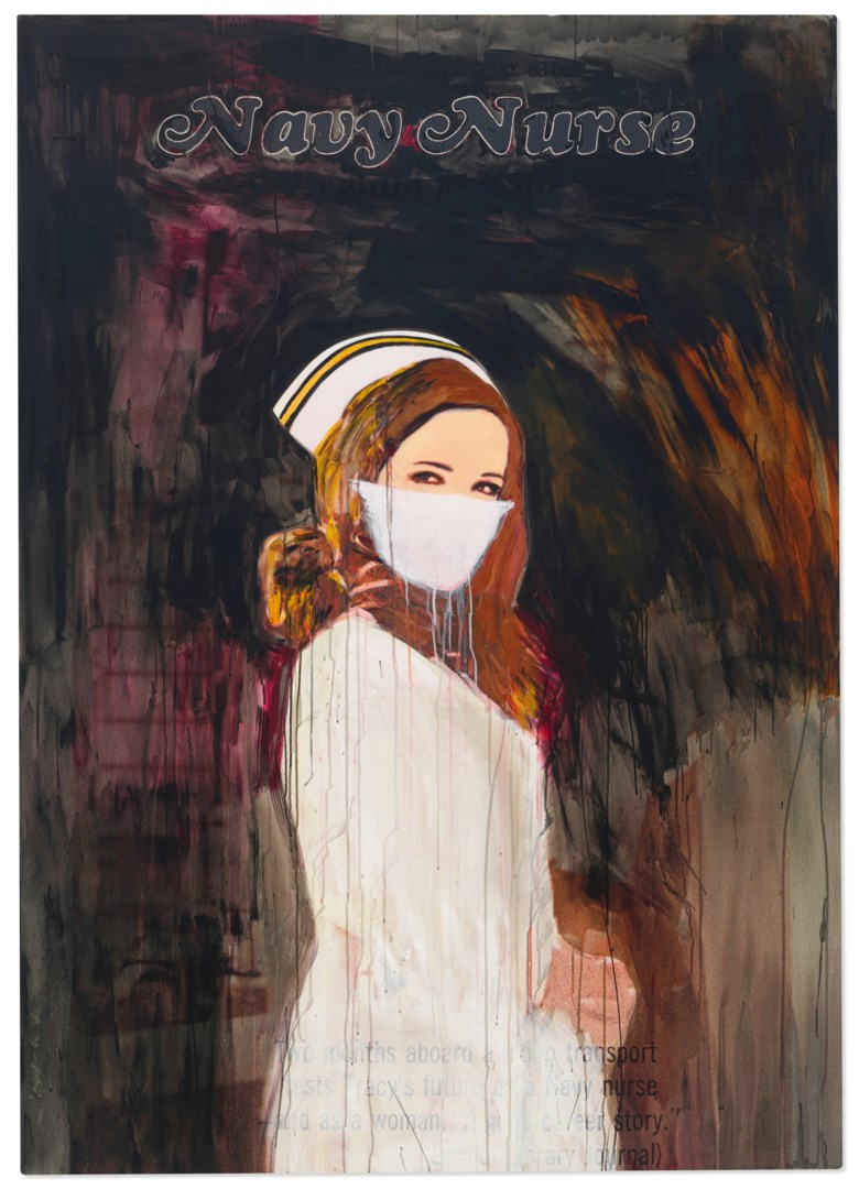 Richard Prince (b. 1956), Navy Nurse, 2004. Inkjet and acrylic on canvas. 76 x 54¼ in (193 x 137.8 cm). Estimate $4,000,000-6,000,000. Offered in ONE A Global Sale of the 20th Century on 10 July 2020 at Christie's in New York