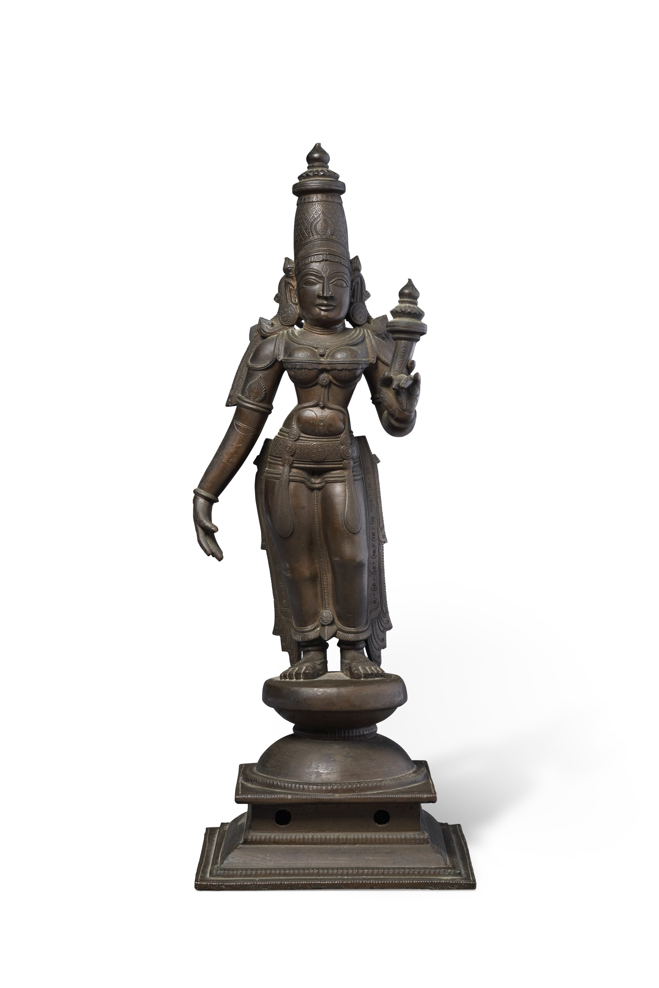 A BRONZE FIGURE OF BHU DEVI