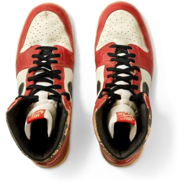 "Air Jordan 1 High ""'Shattered Backboard' Origin Story,"" Game-Worn Signed Sneaker"
