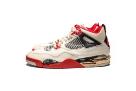 "Air Jordan 4 ""Fire Red,"" Player Exclusive, Game-Worn Signed"