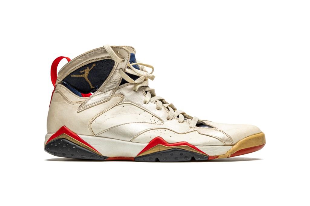 "Air Jordan 7 ""Olympic,"" Player Exclusive, Game-Worn Sneaker"