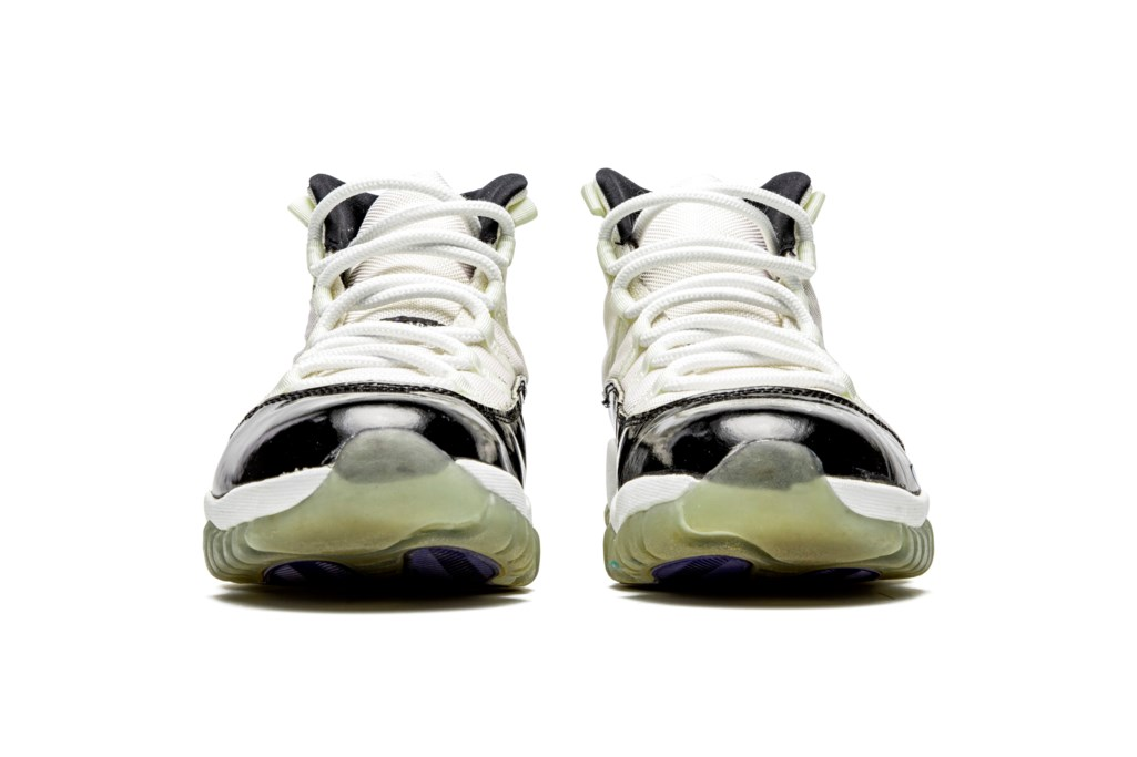 "Air Jordan 11 ""Concord,"" Player Exclusive, Game-Worn Signed Sneaker"