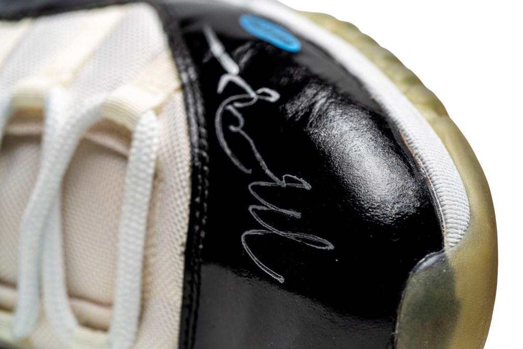 "Air Jordan 11 ""Concord,"" Player Exclusive, Game-Worn Signed Sneaker"