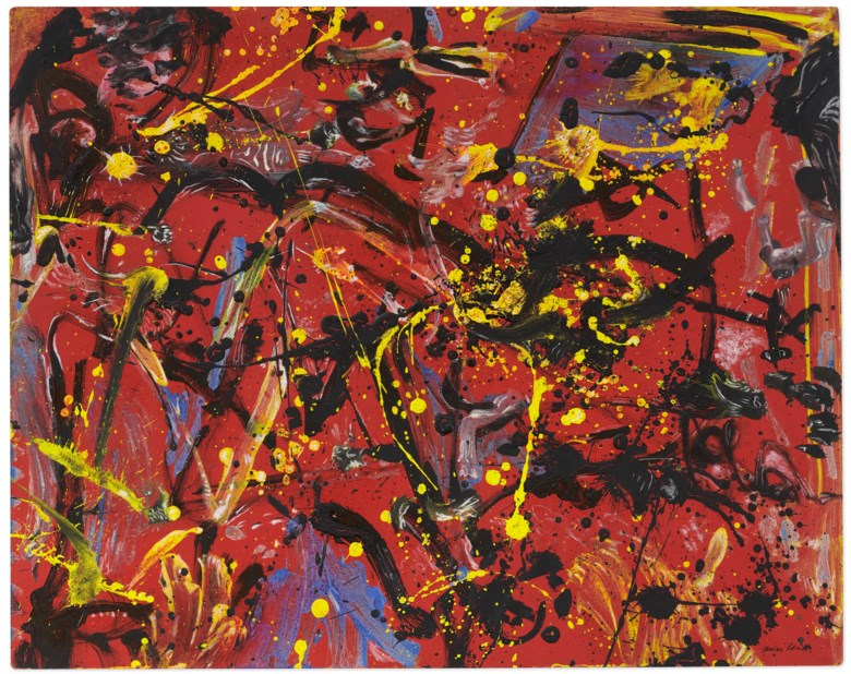 Jackson Pollock (1912-1956), Red Composition, 1946. Oil on Masonite. 19 x 23¾ in (48.3 x 60.3 cm). Estimate $12,000,000-18,000,000. Offered in 20th Century Evening Sale on 6 October 2020 at Christie's in New York. © The Pollock-Krasner Foundation ARS, NY and DACS, London 2020