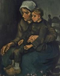 Boerin met een kind op haar schoot (Peasant Woman with Child on her Lap)