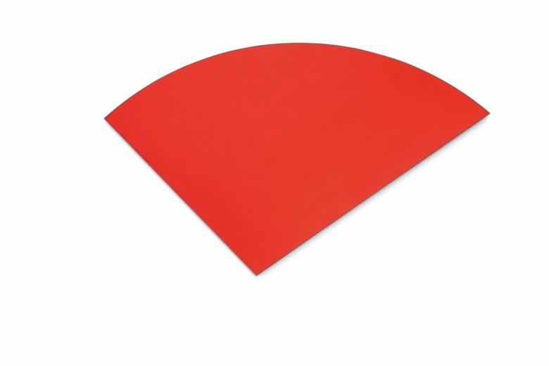 Ellsworth Kelly (1923-2015), Red Curve V, 1982. Oil on shaped canvas. 90¾ x 151½ in (230.5 x 384.8 cm). Estimate $5,000,000-7,000,000. Offered in 20th Century Evening Sale on 6 October 2020 at Christie's in New York