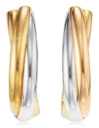 CARTIER GOLD 'TRINITY' CUFFLIN