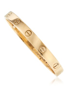 CARTIER GOLD 'LOVE' BRACELET