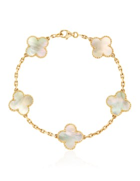VAN CLEEF & ARPELS MOTHER OF PEARL AND GOLD 'VINTAGE ALHAMBR