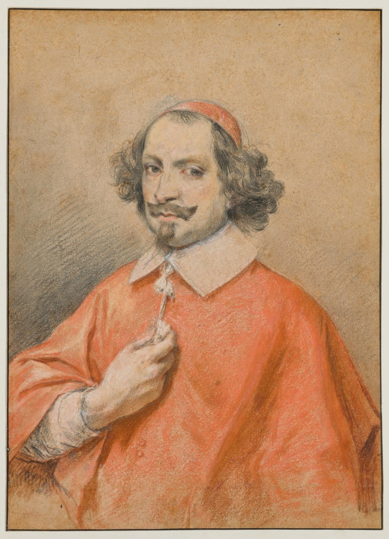 Simon Vouet (Paris 1590-1649), Portrait of Cardinal Jules Mazarin. 27.5 x 20  cm (10¾ x 7⅞  in). Estimate €100,000-150,000. Offered in Ancient and XIXth Century Drawings on 27 May 2020 at Christie's in Paris