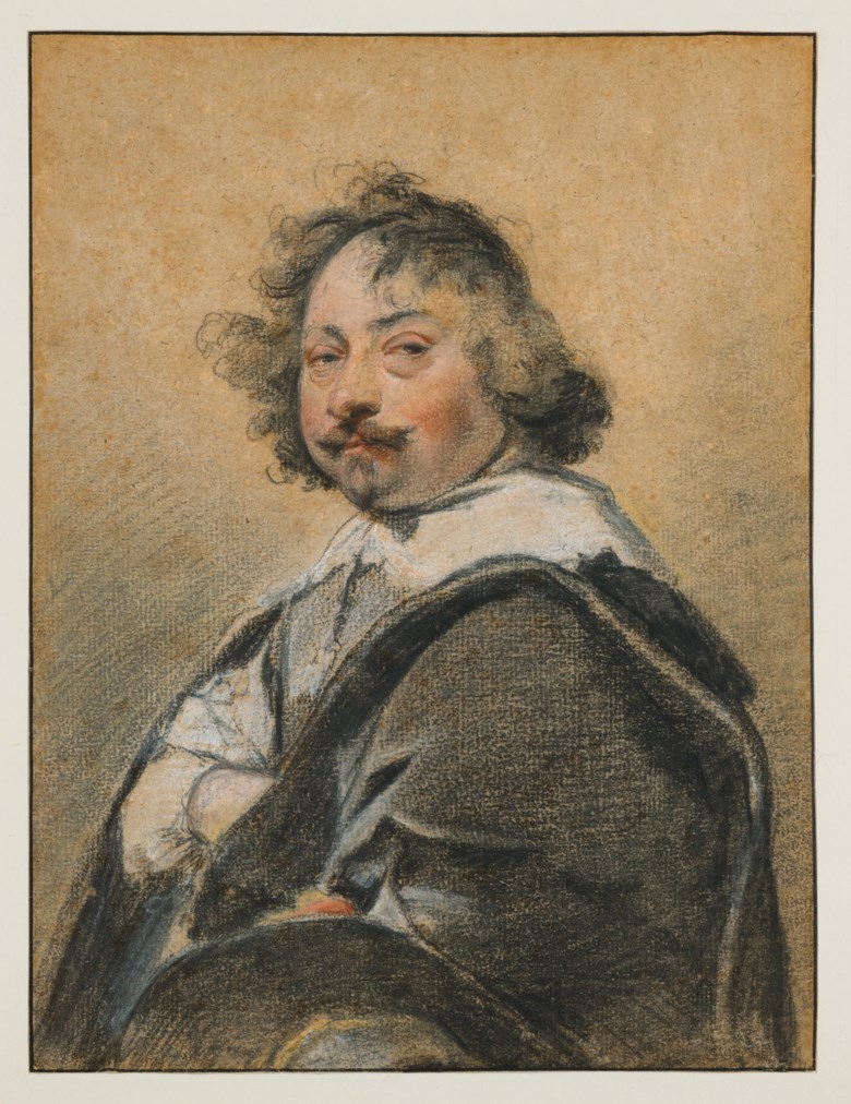 Simon Vouet (Paris 1590-1649), Portrait of man in profile, turned to the left. Black stone, pastel on beige paper, framing lines in pen and black ink. 27.5 x 21  cm (10¾ x 8¼  in). Estimate €100,000-150,000. Offered in Ancient and XIXth Century Drawings on 27 May 2020 at Christie's in Paris