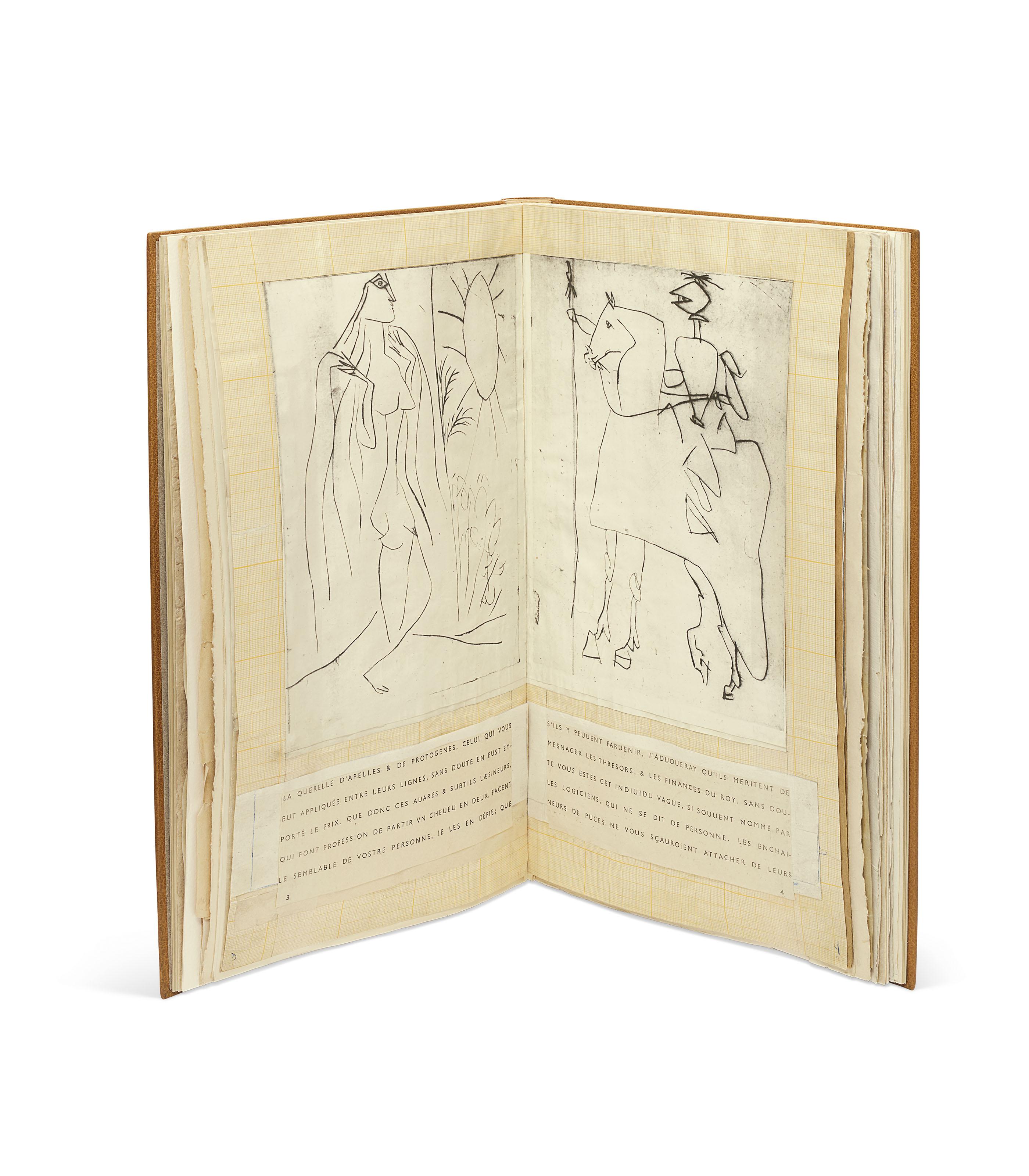 ILIAZD, Ilia Zdanevitch dit, Guillaume de VAUX, Adrian de Monluc dit, et Pablo PICASSO. Maquette de La Maigre. [Paris], [ca. 1951]