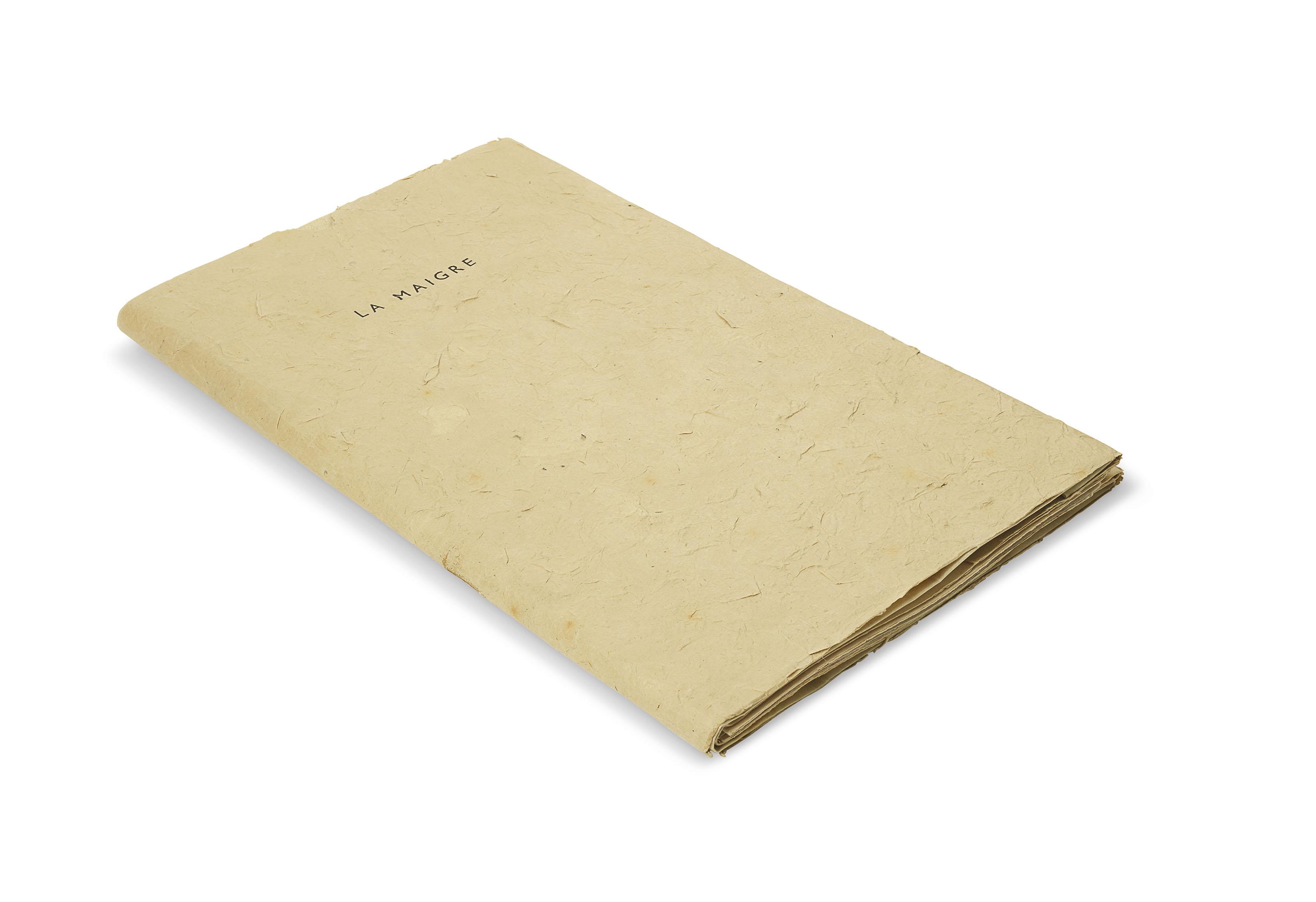 ILIAZD, Ilia Zdanevitch dit, Guillaume de VAUX, Adrian de Monluc dit, et Pablo PICASSO. La Maigre. [Paris], Le Degré quarante et un, [1952]