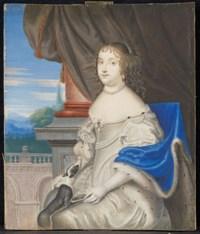 Portrait de femme au manteau d'hermine
