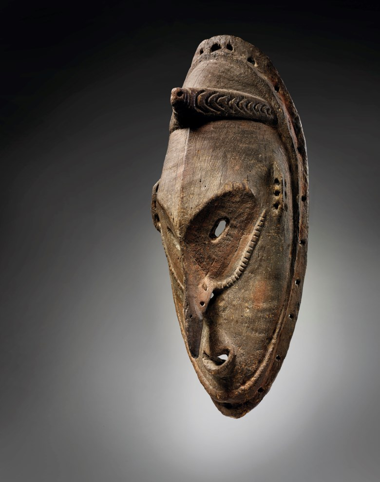 Brag Sebug mask, Murik Lagoon, lower Sepik region, Papua New Guinea. Height 19½ in (49.5 cm). Estimate €40,000-60,000. Offered in African, Oceanic and North American Art on 29 June 2020 at Christie's in Paris