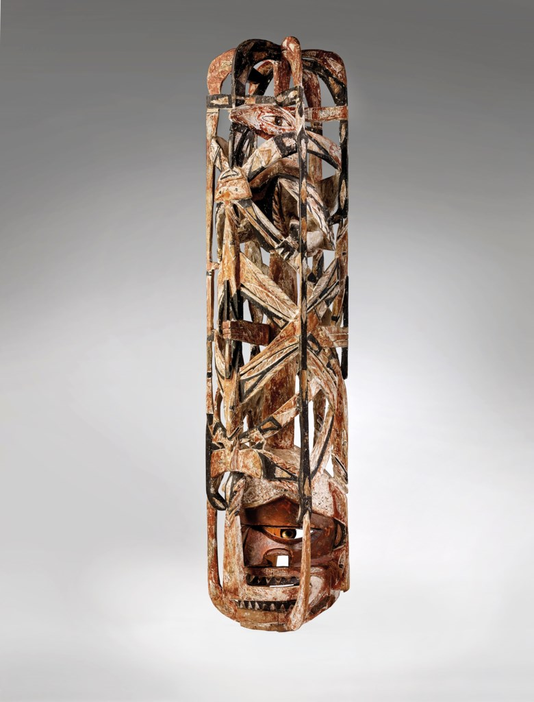 Malangan mask, New Ireland, Papua New Guinea. Height 60 in (101.5 cm). Estimate €70,000-100,000. Offered in African, Oceanic and North American Art on 29 June 2020 at Christie's in Paris