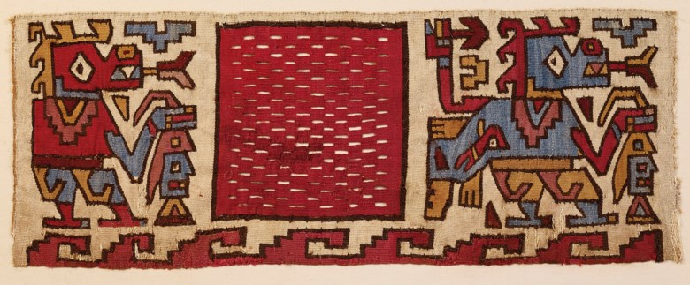 Huarmey textile band, medium horizon, circa 600-900 AD. Length 15⅛ in (38.5 cm). Estimate €9,000-12,000. Offered in Pre-Columbian Art on 29 June 2020 at Christie's in Paris