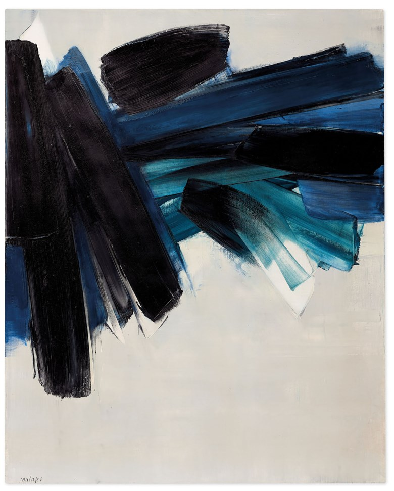 Pierre Soulages (b. 1919), Peinture 162 x 130 cm, 9 juillet 1961, 1961. Oil on canvas. 162 x 130  cm. Estimate €6,000,000-8,000,000. Offered in Paris Avant-garde on 22 October 2020 at Christie's in Paris. Artwork © Pierre Soulages, DACS 2020