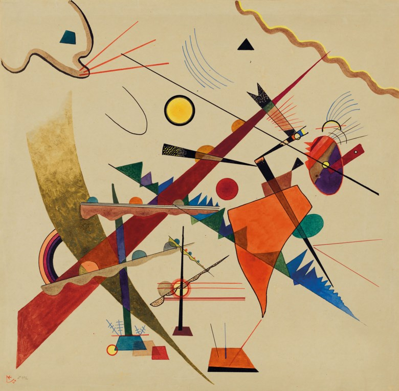 Wassily Kandinsky (1866-1944), Trüber Aufstieg, 1924. Watercolour and India ink on paper. 36.3 x 37.2 cm. Estimate €900,000-1,500,000. Offered in Paris Avant-garde on 22 October 2020 at Christie's in Paris