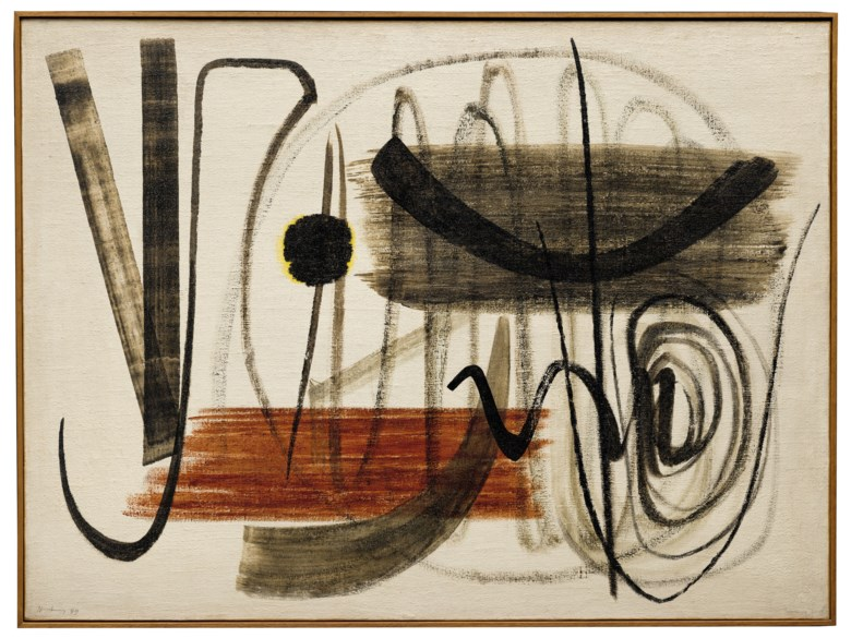 Hans Hartung (1904-1989), T1949-23, 1949. Oil on canvas. 97 x 130 cm. Estimate €1,100,000-1,500,000. Offered in Paris Avant-garde on 22 October 2020 at Christie's in Paris