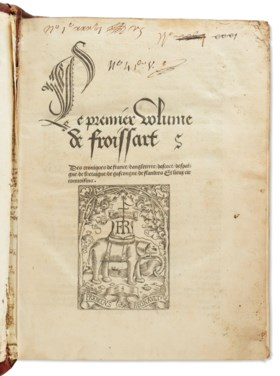FROISSART, Jean (circa 1337- circa 1410) Le premier [-quart]
