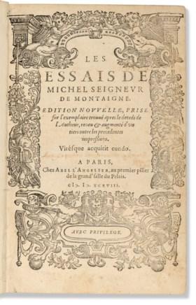 MONTAIGNE, Michel de (1533-1592) Les Essais de Michel seigne