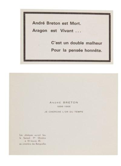 BRETON, André (1896-1966). Nad