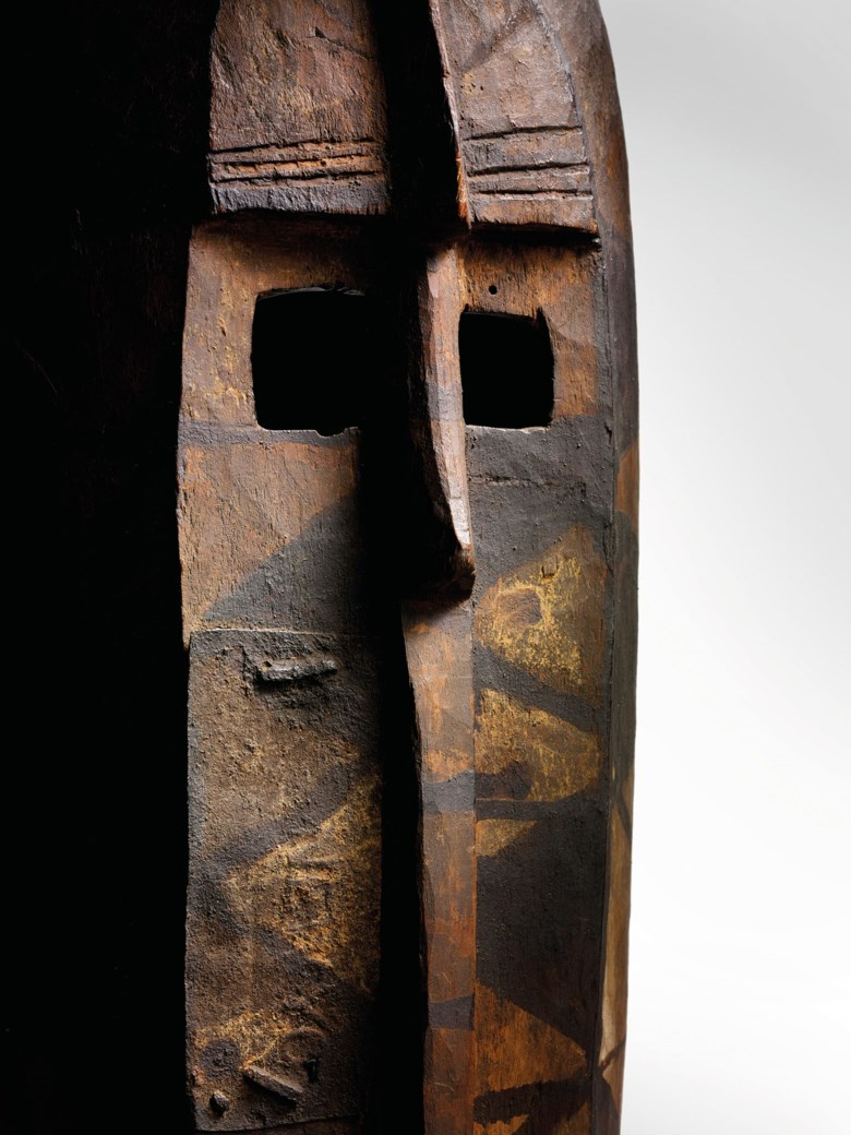 Bobo mask, Burkina Faso. Height 114  cm (45  in). Estimate €50,000-70,000. Offered in SHAPE(S), LUNIVERS DES FORMES, African and Oceanic arts on 3 December 2020 at Christie's in Paris