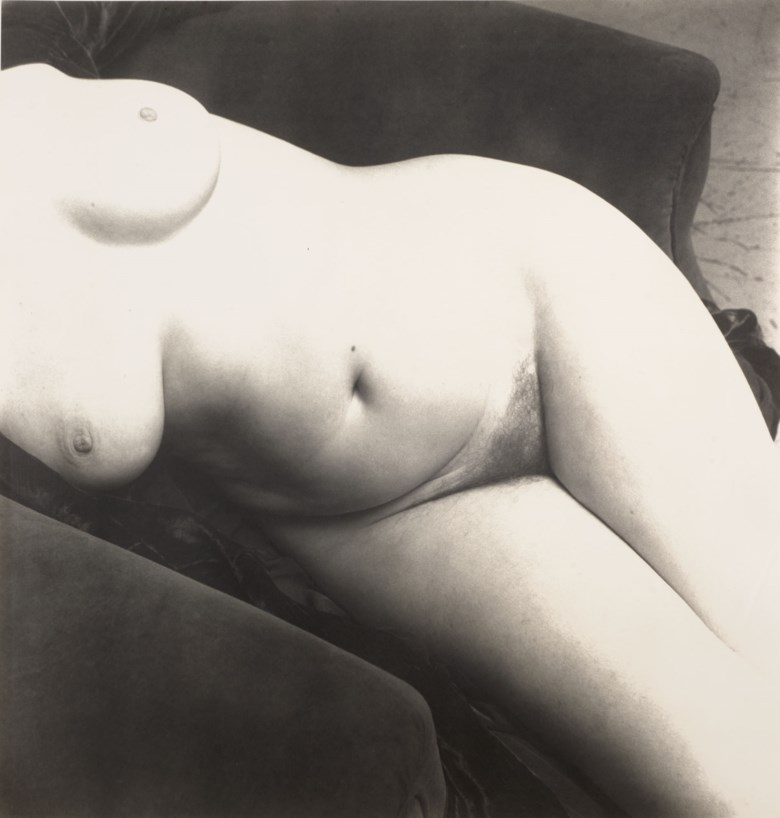 Irving Penn (1917-2009), Nude 137, 1949-1950. Montage 50.7 x 40.3  cm (20 x 15¾  in). Estimate €6,000-8,000. Offered in Photographies on 10 November 2020 at Christie's in Paris