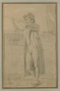 Homme à la longue-vue: portrait présumé de monsieur Ritter