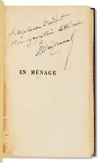 HUYSMANS, Joris-Karl (1848-1907). En Ménage. Paris : G. Charpentier, 1881.