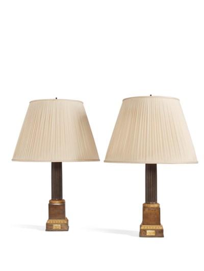 PAIRE DE LAMPES D'EPOQUE RESTA