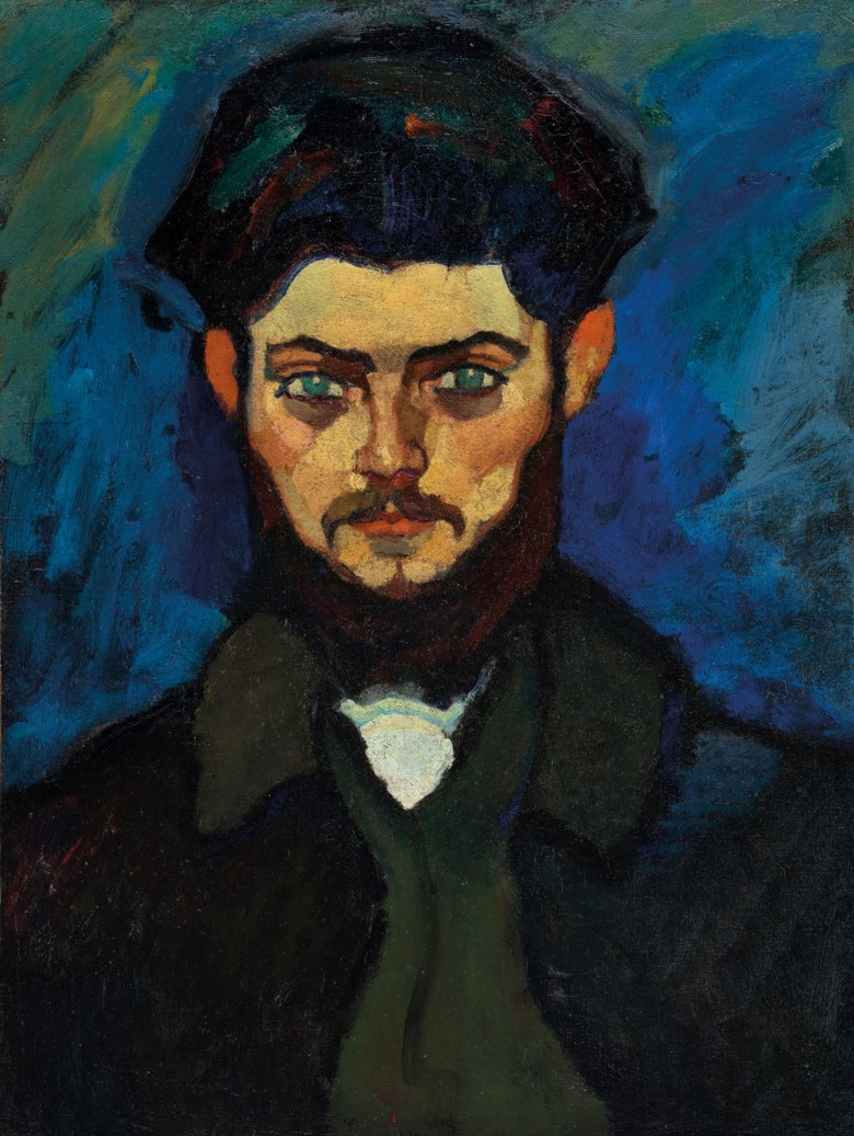 Amedeo Modigliani (1884-1920), Portrait of Maurice Drouard, 1909. Oil on canvas. 23¼ x 17¼  in (59 x 44  cm). Sold for €4,485,500 in ONE A Global Sale of the 20th Century on 10 July 2020 at Christie's in Paris