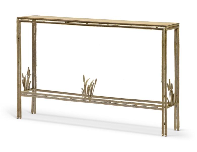 Louis Cane (b. 1943), Console 'aux joncs', le modèle créé en 1994. 93,5 x 151 x 28 cm  36¾ x 59½ x 11 in. Estimate €8,000-12,000. Offered in Louis Cane Meubles et objets décoratifs, 12-27 November 2020, Online