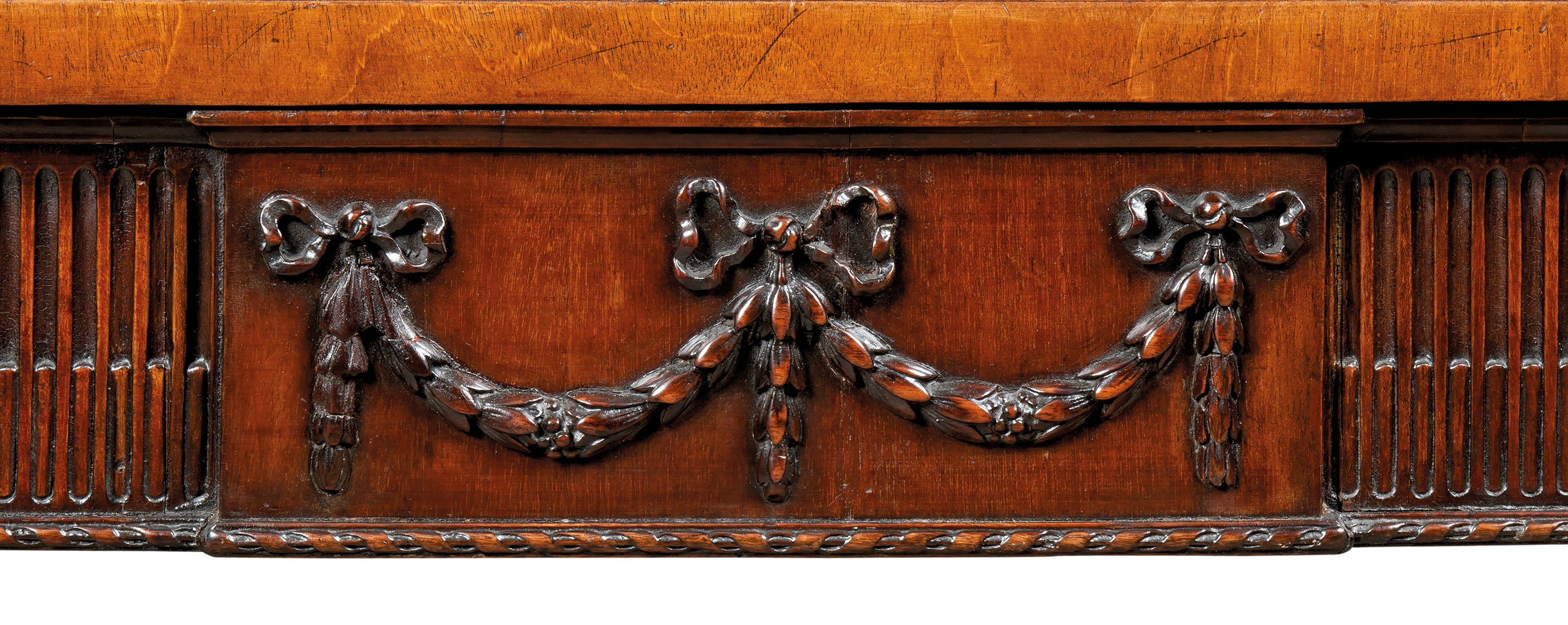 A GEORGE III MAHOGANY SERVING-TABLE