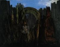 Cage, forêt et soleil noir