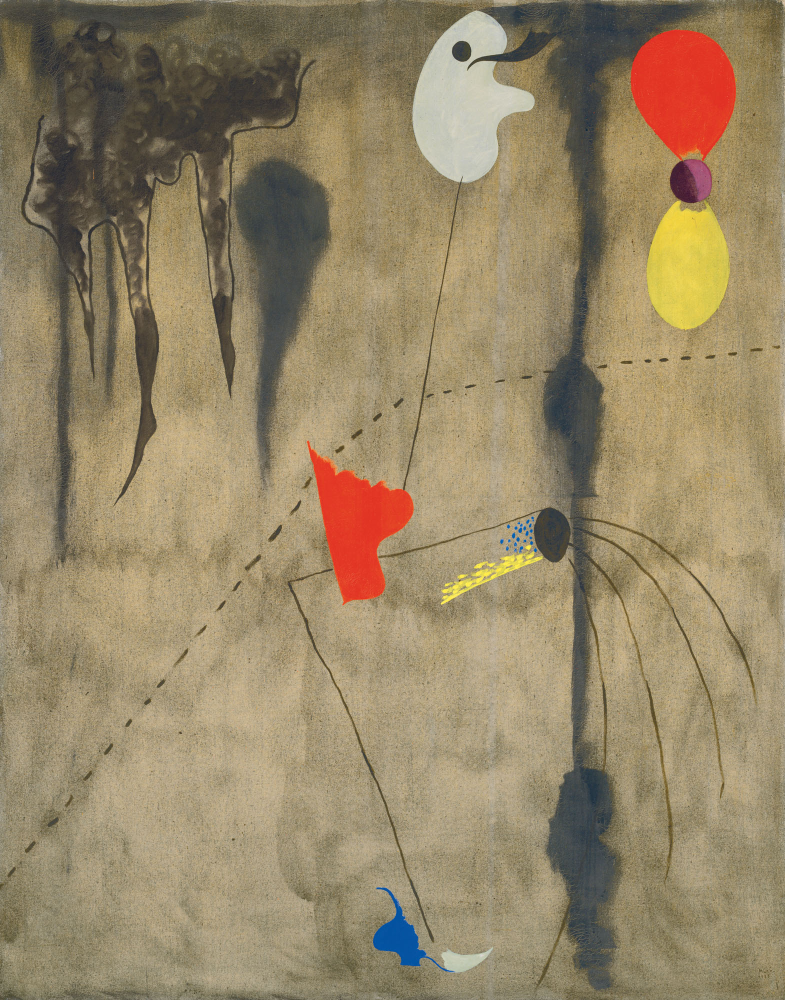Joan Miró (1893-1983), Peinture, 1925.Oil on canvas. 57 12 x 45 in. (146 x 114.3 cm.). Sold for £10,231,500 on 23 March 2021 at Christie's in London