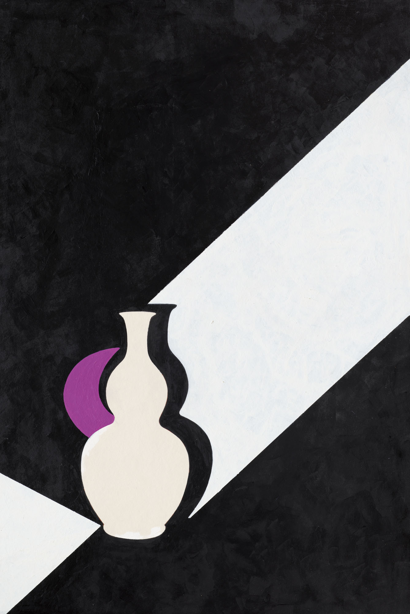 Patrick Caulfield (1936-2005), Arita Flask Black, 1989. Acrylic on board. 30½ x 20½ in (77.5 x 52 cm). Estimate £25,000-35,000. Offered in the Modern British Art Day Sale on 2 March 2021at Christies in London