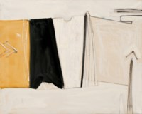 Black, White and Ochre Figure, August 1959