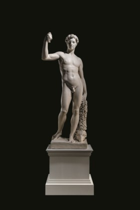 A PLASTER LIFE-SIZE FIGURE OF JASON AND THE GOLDEN FLEECE